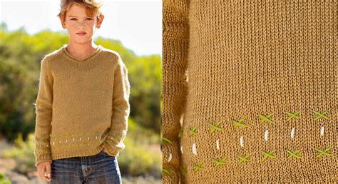 a un le pull col v en jersey enfant prima