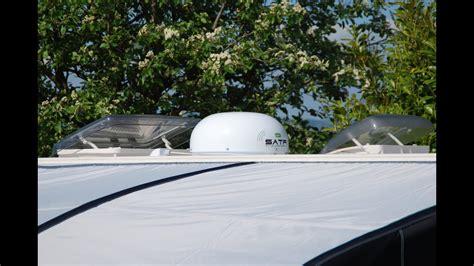 satfi satellite tv dome installation   caravan video youtube
