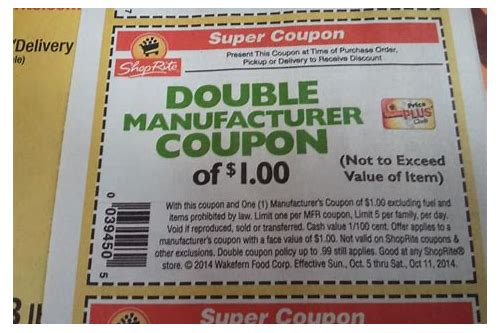 how to double coupons at shoprite