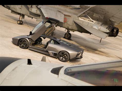 Lamborghini Vs Jet 2008 Lamborghini Reventon Vs Tornado Jet Fighter Side