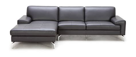 Grey Leather Sectional by Divani Casa Tansy Modern Grey Leather Sectional Sofa