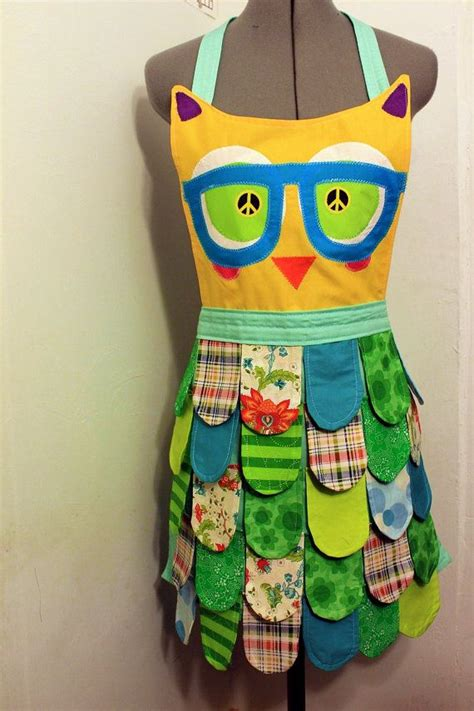 pattern for owl apron sewing pattern sale nerdy classic rainbow owl