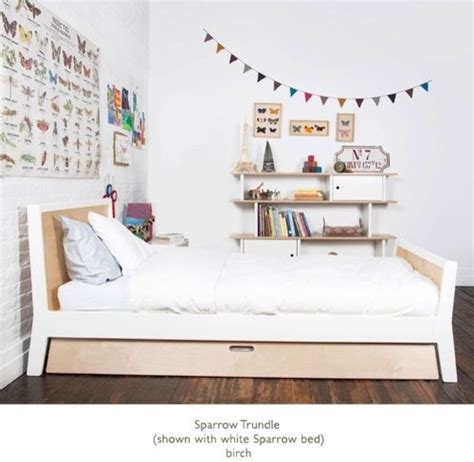 Modern Trundle Bed by Sparrow Bed With Optional Trundle By Oeuf 1sptw0x
