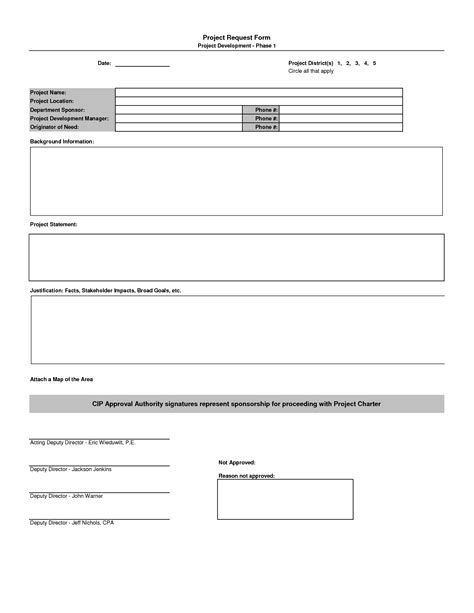 project management form templates best photos of new project request template project