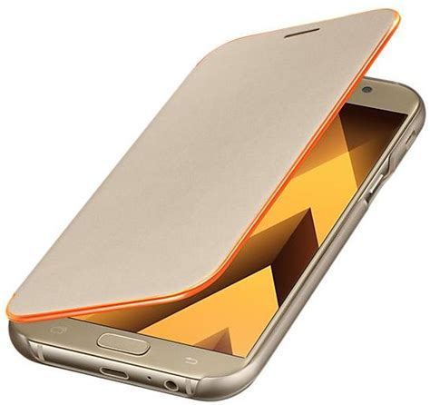 Flip Bluemon Samsung A7 2017 samsung galaxy a7 2017 a720 neon flip cover gold price review and buy in dubai abu dhabi