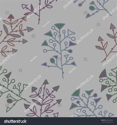 hole pattern en francais seamless pattern floral motif doodles branches stock