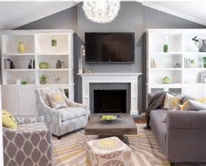 grey and yellow living room for the home
