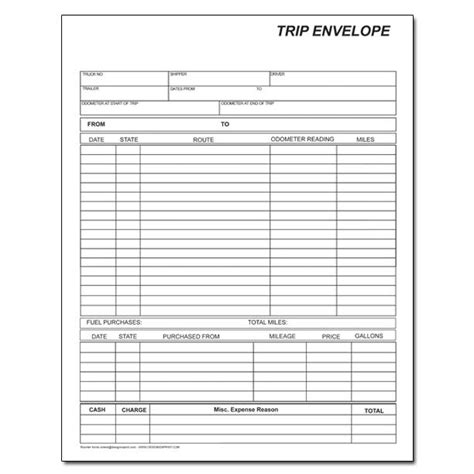 truck drivers trip sheet template driver trip sheet template success book covers