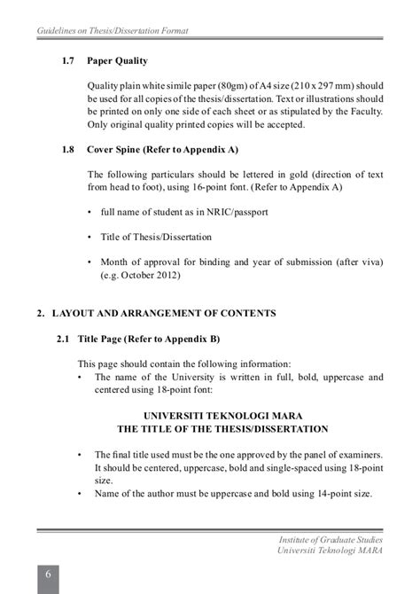 Mcgill Mba Program Requirements by Mcgill Graduate Studies Thesis Guidelines Thesis Size