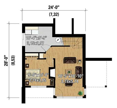 front sloping lot house plans modern getaway for a front sloping lot 80816pm