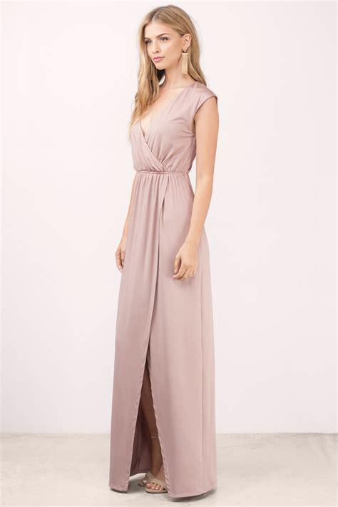 Slit Dress mauve maxi dress high slit dress 68 00