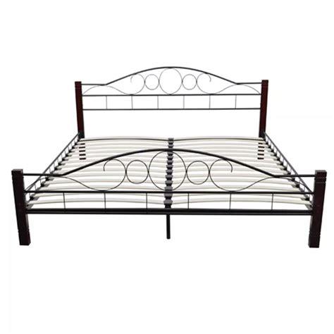 matratze 100 x 180 metallbett doppelbett schwarz rostbraun 180 x 200 cm