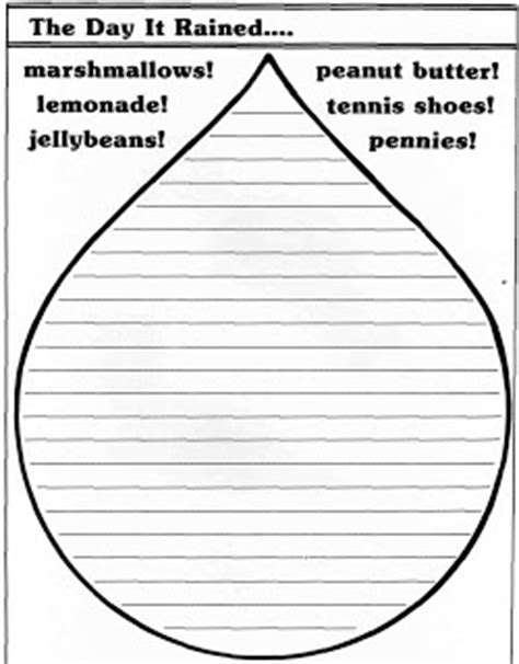 raindrop template with lines elementary school enrichment activities raindrop writing