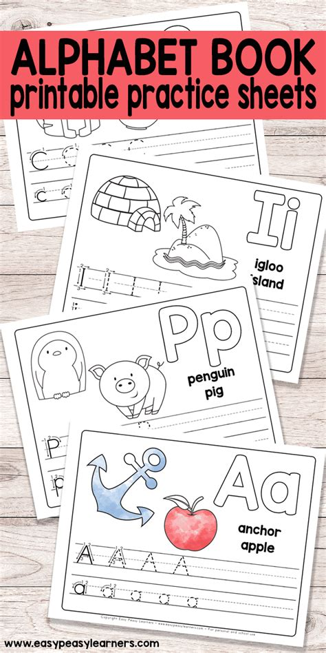 printable kindergarten books free printable alphabet book for preschool and