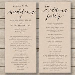 programs for weddings templates wedding program template printable by hopestreetprintables