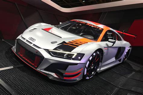 updated audi  lms gt teases  road car facelift