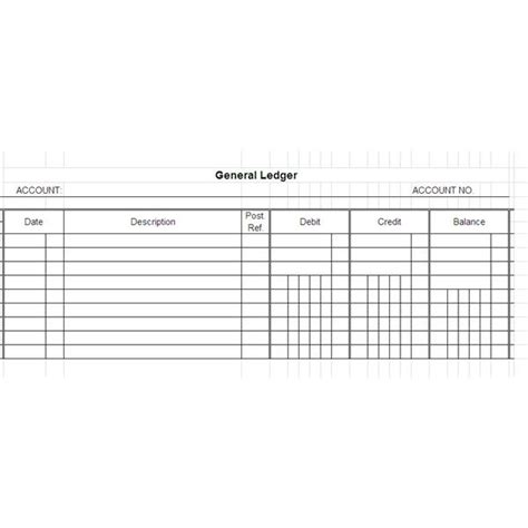 Free General Ledger Templates For Microsoft Excel Accounting Ledger Template Excel