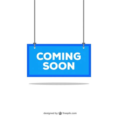 Coming Soon Blue Sign Vector Free Download Coming Soon Banner Template