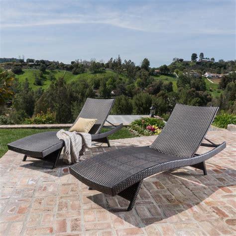 salem multi brown  piece wicker outdoor chaise lounge