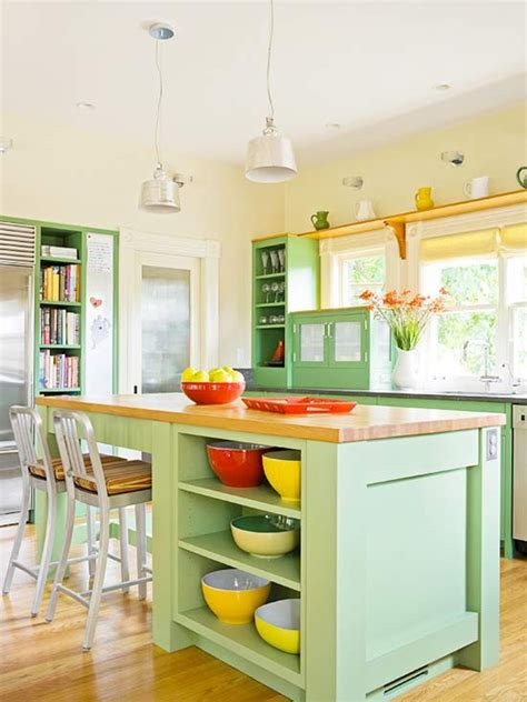 colorful kitchen islands 20 kitchen ideas with painted cabinet home design and interior