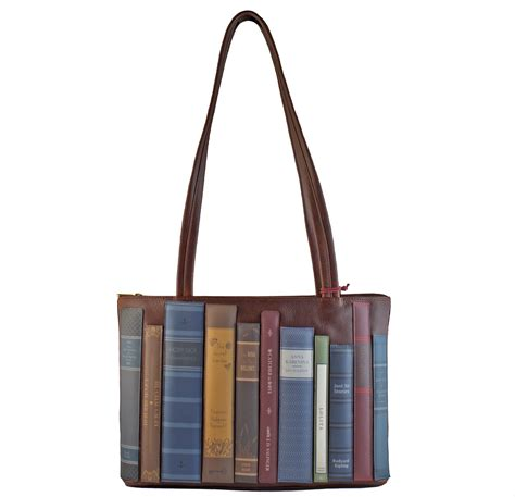 Wvd2 2nd 5 In 1 Bags In Bag Travelling Dpt 5 Bag Travel Organizer brown leather library books bag bodleian shop