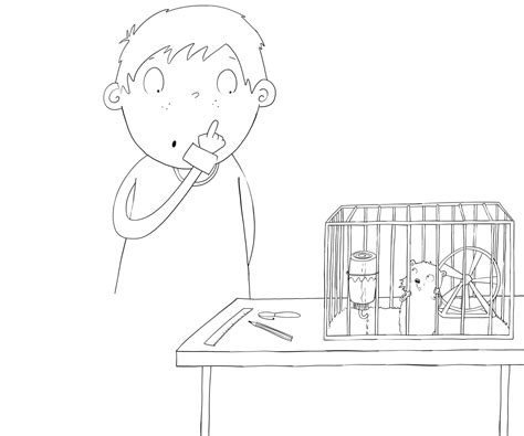 how to cage a how to draw a hamster in a cage