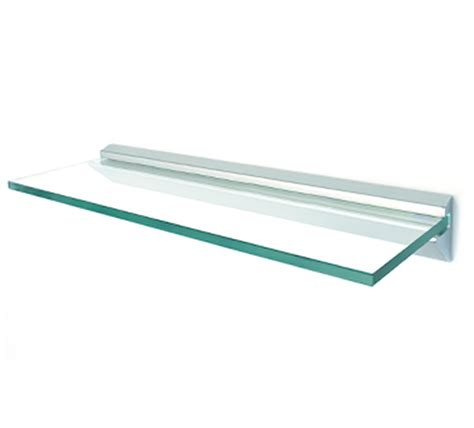 Through Glass Shelf Support by Aluminium Wall Profile For 10mm Glass Shelves The
