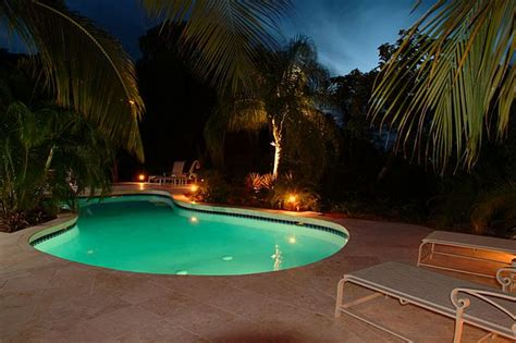 pool at night pool at villa colorado a st john us virgin island