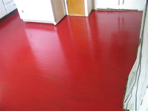 red floor paint my kitchen almost finished glidden porch floor oil