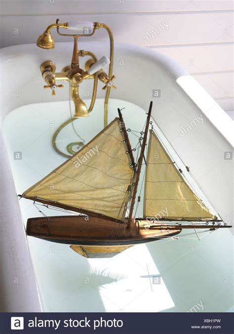 sailing boat bath toy wooden sailing boat stock photos wooden sailing boat