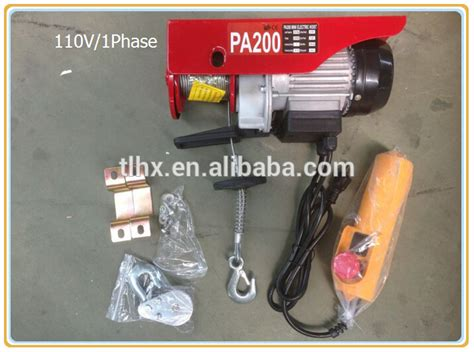 Chain Hoist Electric Mini Sling 1000kg Kobachi Berkualitas pa 110v mini electric wire rope hoist winch view 110v wire rope winch qian li product details