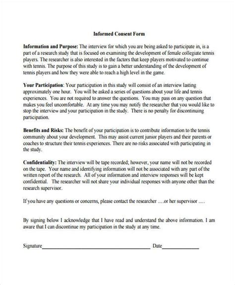 Consent Forms In Pdf Informed Consent Form For Treatment Template