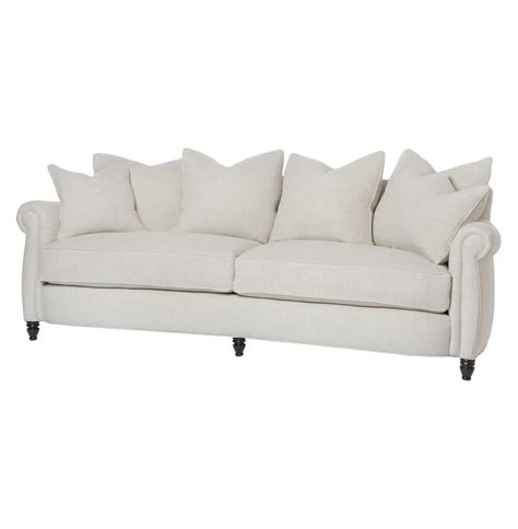 feather down couch cortona classic rolled arm feather down oatmeal sofa 90