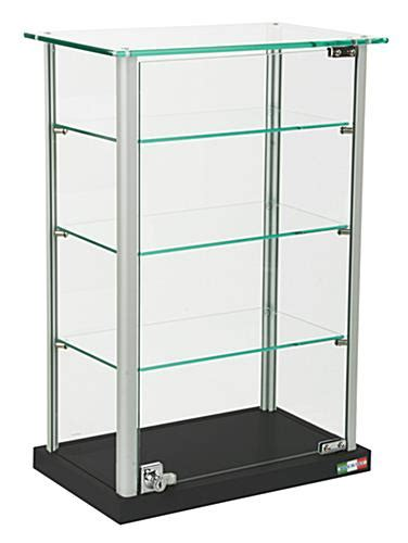 Small Glass Display Cabinet by Small Glass Display Adjustable Shelves Locking