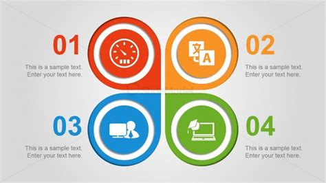 4 step quadrant diagram design for powerpoint with