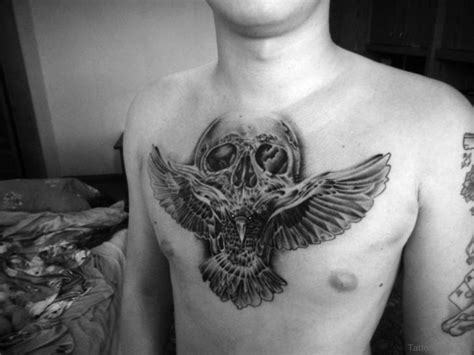 tattoo on breast 70 stunning skull tattoos on chest