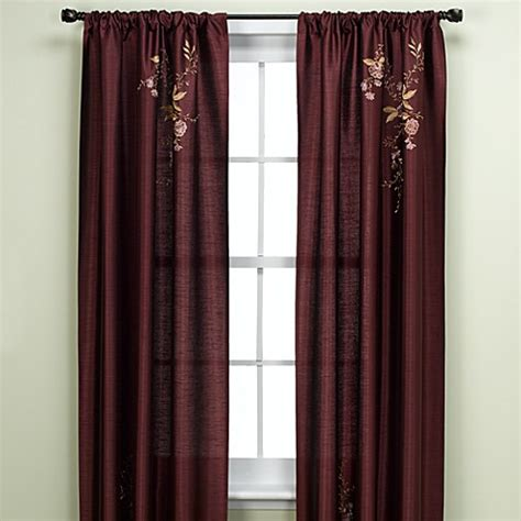 eggplant curtains window treatments alesandra tailored window panel bedbathandbeyond com