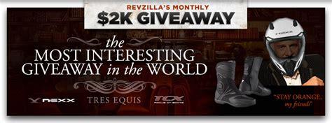 Revzilla Giveaway - gear giveaway at revzilla com create a profile to win revzilla