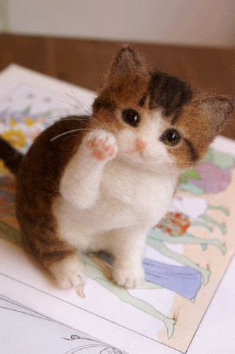 needle felted kittens how to create and lifelike cats from wool books 1000 ideas about needle felted cat on buy and