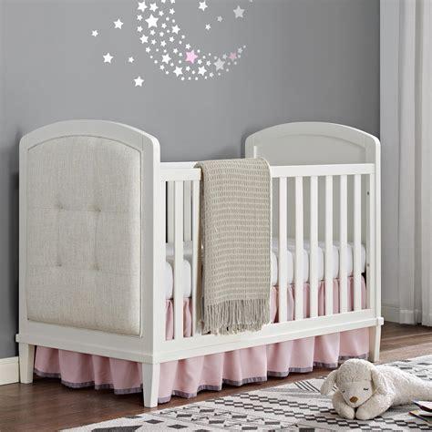 Dorel Living Baby Relax Senna 3 In 1 Upholstered Crib White Baby Relax Crib