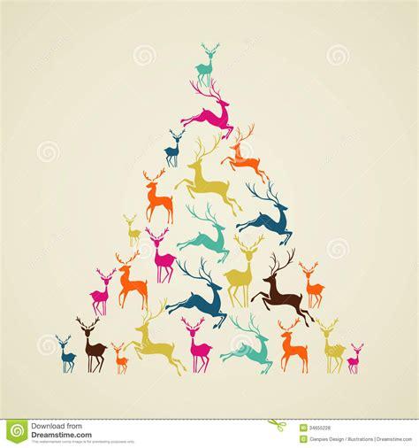 imagenes de feliz navidad hipster vector de la forma del 225 rbol de pino del reno de la feliz