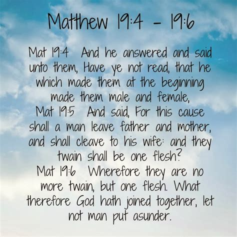 Marriage Bible Verse Matthew by Adorned From Above Matthew 19 4 19 7 Bible Verses
