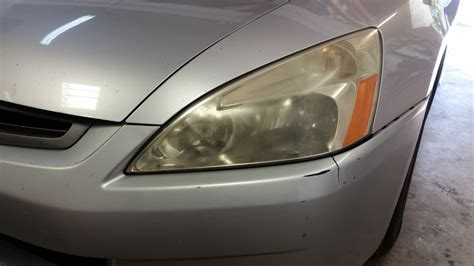 2003 honda accord lights replaced dull headlights big improvement honda tech