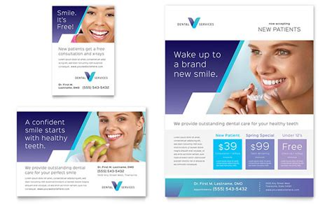 templates for ads dentist flyer ad template design