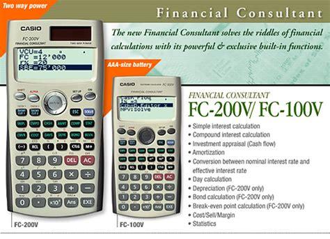 Casio Fc 100 V Fc100v casio fc 100v genuine financial consultant calculator