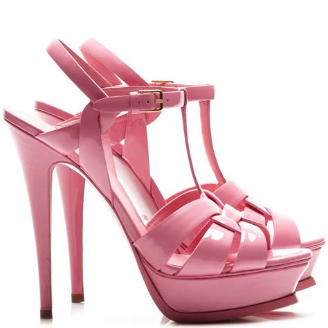 pink patent sandals yves laurent tribute patent leather pink sandals
