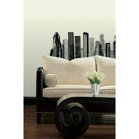 peelable wall stickers cityscape peel and stick wall decal