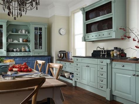 cornell china blue and cornflower painted kitchen