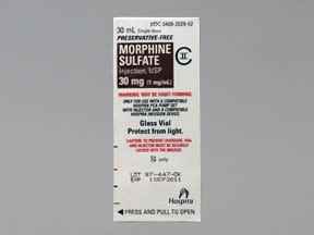 morphine (pf) intravenous : uses, side effects