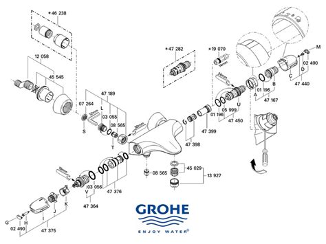 Grohe Showers Spare Parts by Grohe Grohtherm Auto 3000 Shower Spares And Parts Grohe